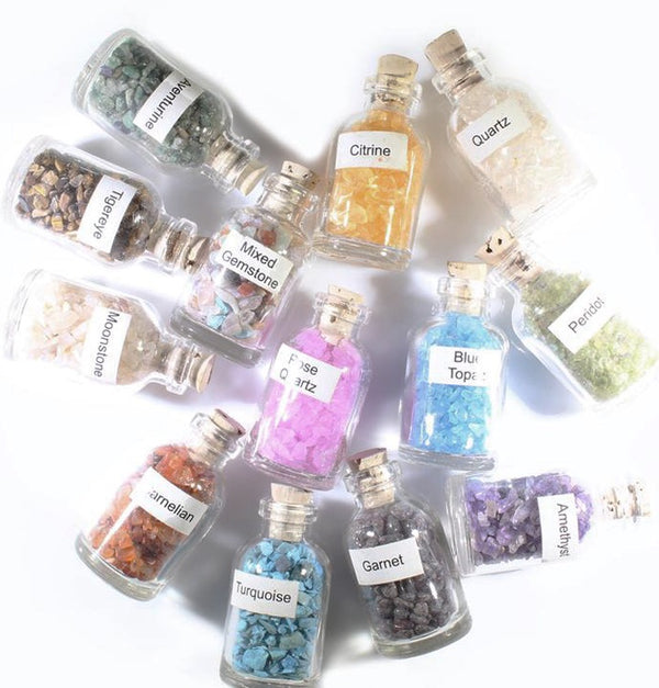 Gemstone Chip Bottle - Zero Point Crystals