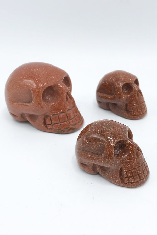 Goldstone Skull - Zero Point Crystals