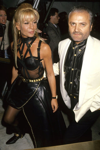 Donatella Versace and Gianni Versace at Vogue's 100th Anniversary Party, New York, 1993