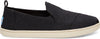 Black Heritage Canvas Women'S Deconstructed Alpargata Slip-Ons