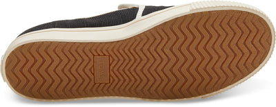 Black Heritage Canvas Women'S Clemente Slip-Ons