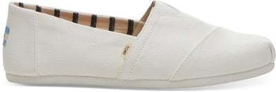 Toms White Canvas Mens Alpargatas