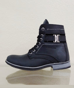 Mens Rustic Casual Black Boot