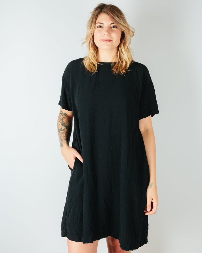 CP Shades Clothing Black / XS Carolina S/S Dress in Rayon