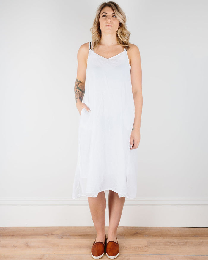 CP Shades Clothing White / XS Fairie Dress in Cotton Silk