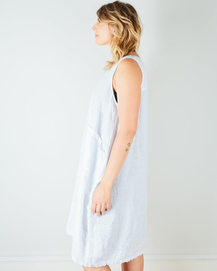 CP Shades Clothing Ruthie Pocket Tank Dress in White Linen