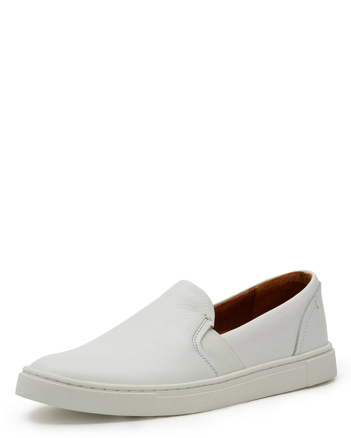 Frye Shoes White / 6 Ivy Slip in White Leather