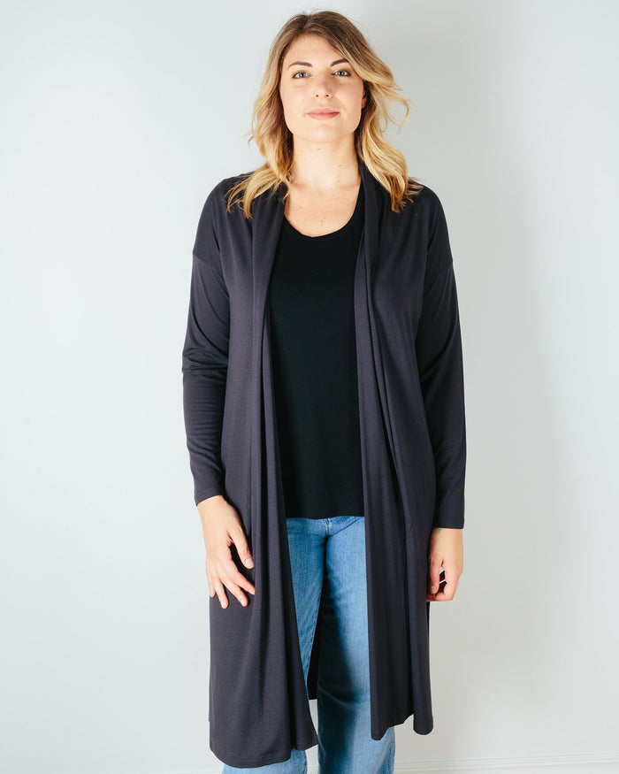 Sarah Liller San Francisco Clothing Graphite / XS Emile Duster in Graphite