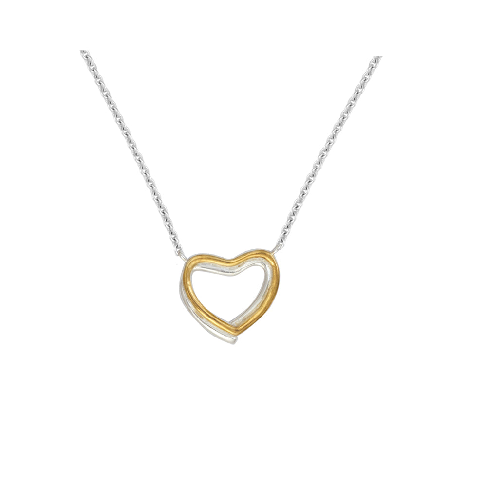 Buy - Hep Audrey Amore Forever Twin Hearts Sterling Silver Pendant Chain UK