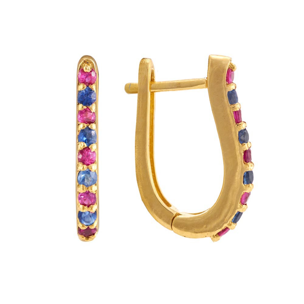 Affordable ruby hoop earrings