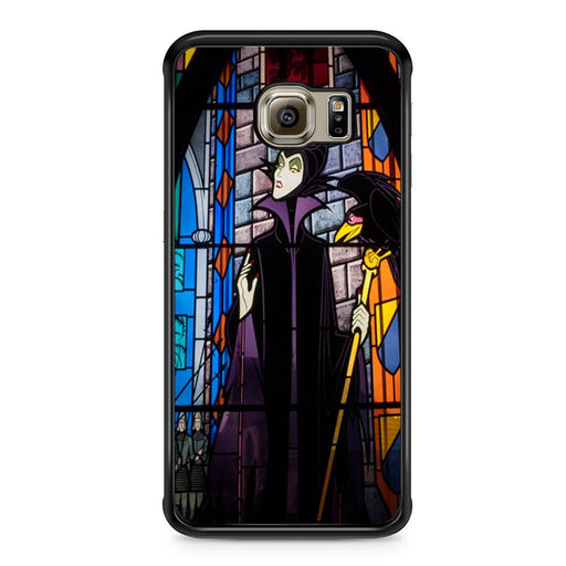 Maleficent Stained Glass Samsung Galaxy S6 Edge case