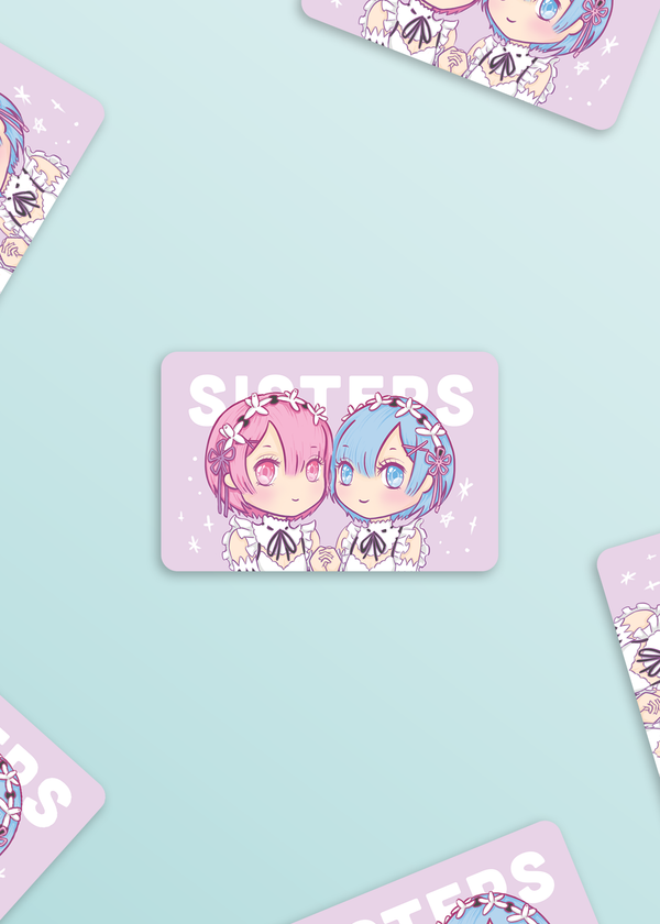 Anime Sticker: Rem & Ram (Re:Zero)