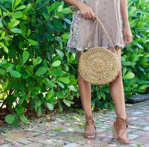 Balangan Crossbody Straw Round Bag
