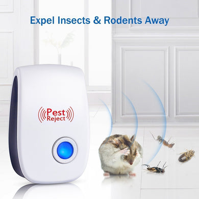 PACK OF 5 US Plug Ultrasonic Pest Repeller Plug In Pest Control