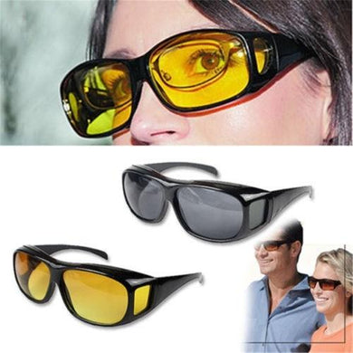 Men Night Vision Driving Anti Glare Eyeglasses HD Vision Wrap Arounds Glasses - HomeEkart