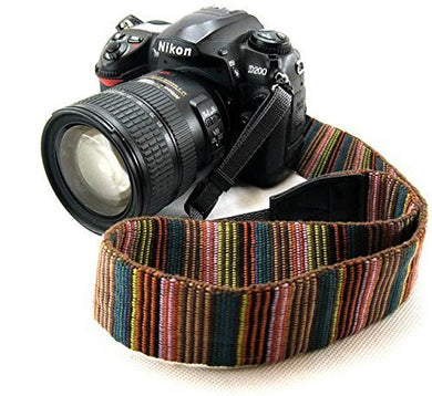 Universal Color Stripes Soft Red Camera Neck Straps Shoulder Strap Belt Grip for DSLR Nikon Canon Panasonic Sony Pentax - HomeEkart