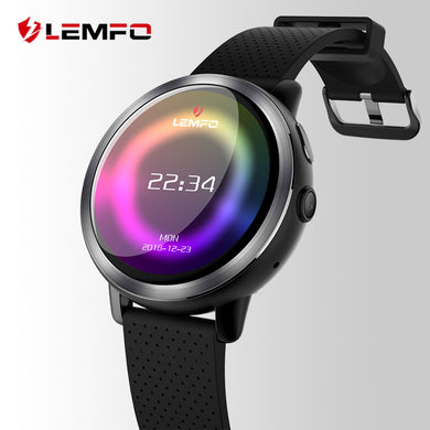 LEMFO LEM8 Luxury 4G Smart Watch Men Android 7.1.1 2GB + 16GB IP67 Waterproof 1.39 Inch AMOLED Screen 580Mah Battery Smartwatch - HomeEkart