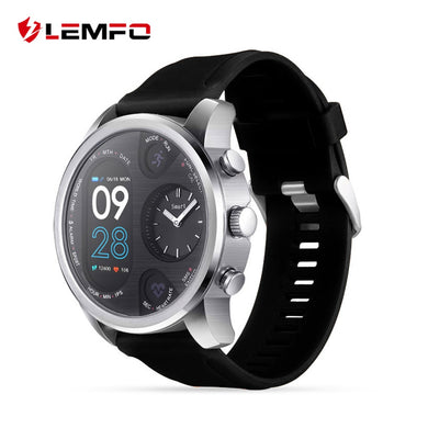 LEMFO T3 Dual Display Smart Watch For Men IP68 Waterproof Fitness Bracelet 15 Days Standby Business Smartwatch Activity Tracker - HomeEkart