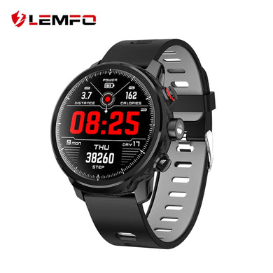 LEMFO L5 Smart Watch Men IP68 Waterproof Standby 100 Days Multiple Sports Mode Heart Rate Monitoring Weather Forecast Smartwatch - HomeEkart
