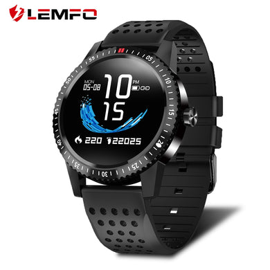 LEMFO T1 Smartwatch IP67 Waterproof Wearable Device Heart Rate Monitor Color Display Smart Watch For Android IOS 30 Days Standby - HomeEkart