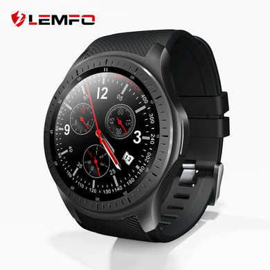 LEMFO LF25 4G 1.3 Inch IPS HD Display Smart Watch Android 7.1.1 GPS Bluetooth 1GB +16GB 600Mah Big Battery Sport Smartwatch Men - HomeEkart