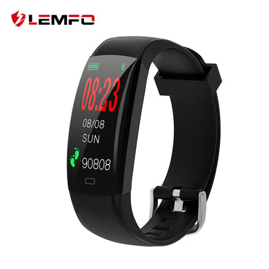 LEMFO F64C Smart Fitness IP68 Waterproof Bracelet Heart Rate Monitor Pedometer Activity Tracker Wristband For Android IOS Phone - HomeEkart