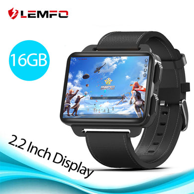 LEMFO LEM4 Pro 2.2 Inch Display 3G Smart Watch Android 5.1 1200 Mah Lithium Battery 1GB + 16GB Wifi Take Video Replaceable Strap - HomeEkart