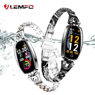 LEMFO H8 Fitness Bracelet Women Sport Smart Watch 2018 Waterproof Heart Rate Monitoring Bluetooth For Android IOS Wristband - HomeEkart