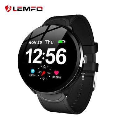 LEMFO V12 1.3 Inch Full Touch Tempered Glass Screen Smart Watch Waterproof Heart Rate Monitoring Blood Pressure For Men Women - HomeEkart