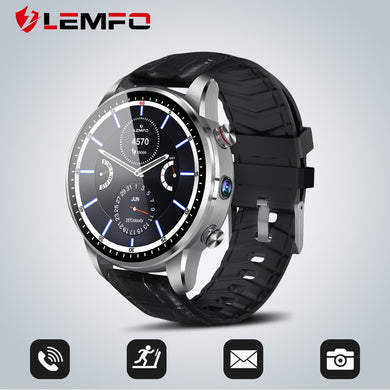 LEMFO LEF3 4G Smart Watch Android 7.1 GPS Bluetooth Steel Case Watch Phone Heart Rate Monitor 1GB + 16GB Memory with 2MP Camera - HomeEkart