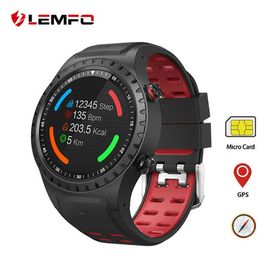 LEMFO M1 Smart Watch GPS Support Bluetooth Dail Call SIM Card IP67 Waterproof Heart Rate Monitor Long Time Standby Smartwatch - HomeEkart
