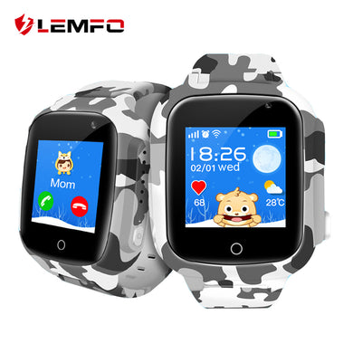 LEMFO LEC2 Smart Watch Kids GPS Wifi 600Mah Battery Baby Smartwatch IP67 Waterproof SOS For Children Support Take Video - HomeEkart