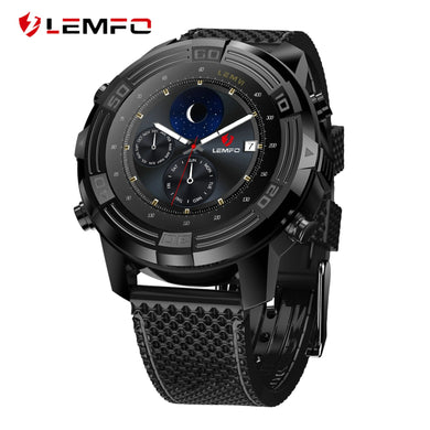 LEMFO LEM6 3G Smartwatch Android 5.1 1GB + 16GB Watch Phone IP67 Waterproof Heart Rate Monitor GPS Wifi Bluetooth Wristwatch Men - HomeEkart
