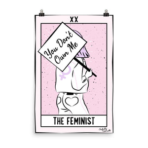 The Feminist - Tarot Card Poster