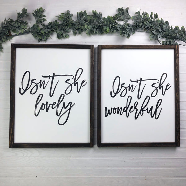 Isn't She Lovely Set Of 2