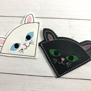 Cat Corner Bookmark Design