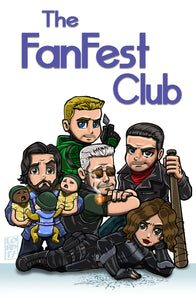 "HVFF 2017 ""The Fan Fest Club"" Event Poster by Lord Mesa"