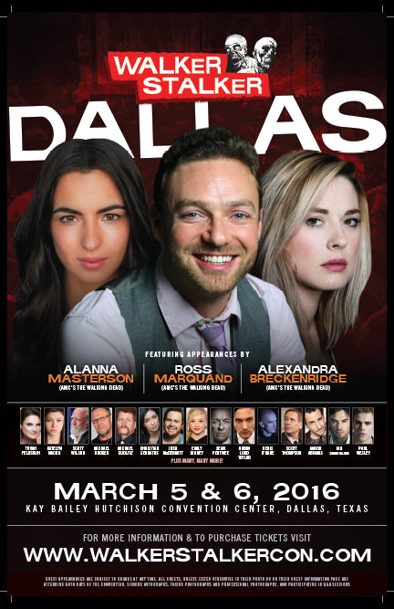 Walker Stalker Con Dallas 2016 Event Poster