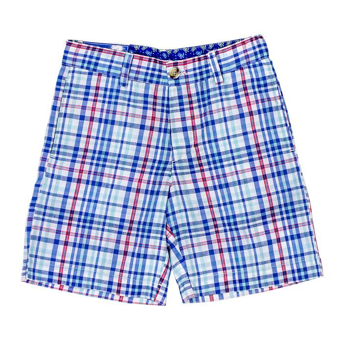 Reef Blue Plaid Shorts