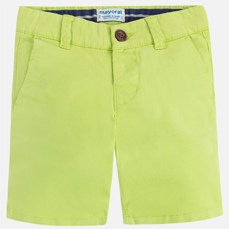 Lime Green Chino Shorts