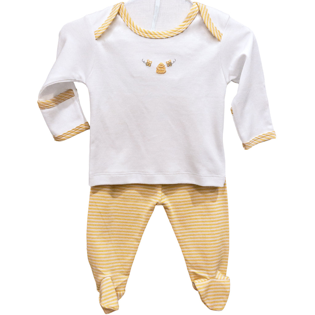 Bumble Bees Footed Pant Set