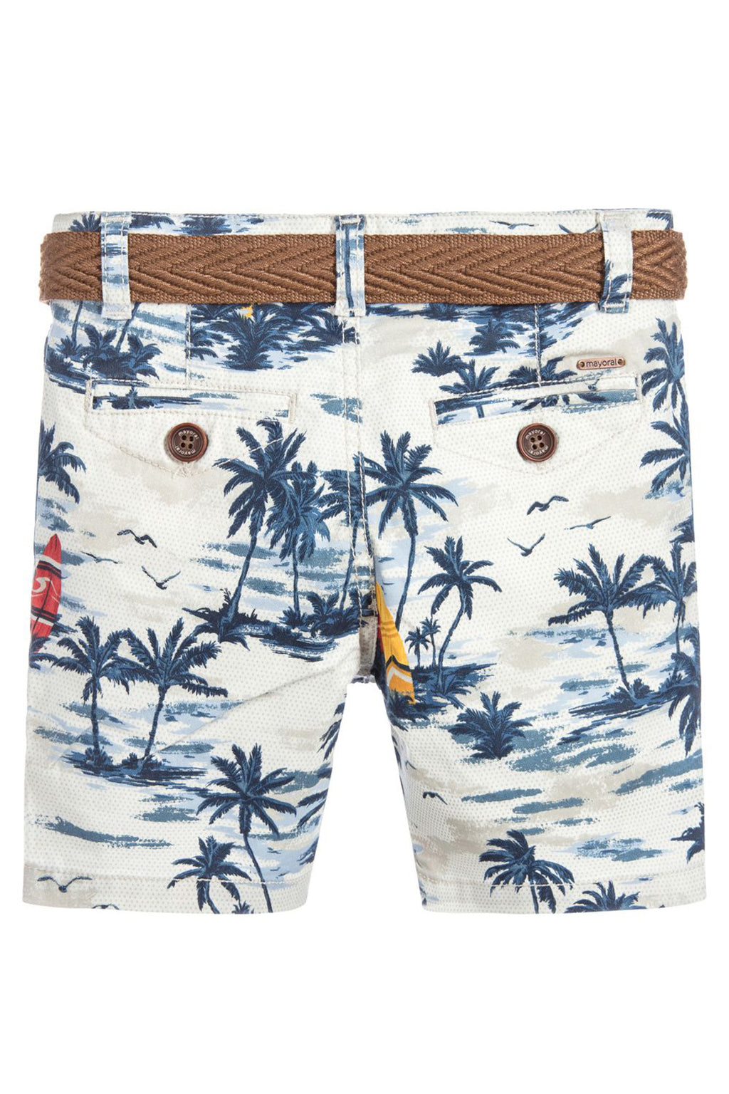 Mayoral - Palm Tree Print Shorts & Belt - kkgivingtree - K&K's