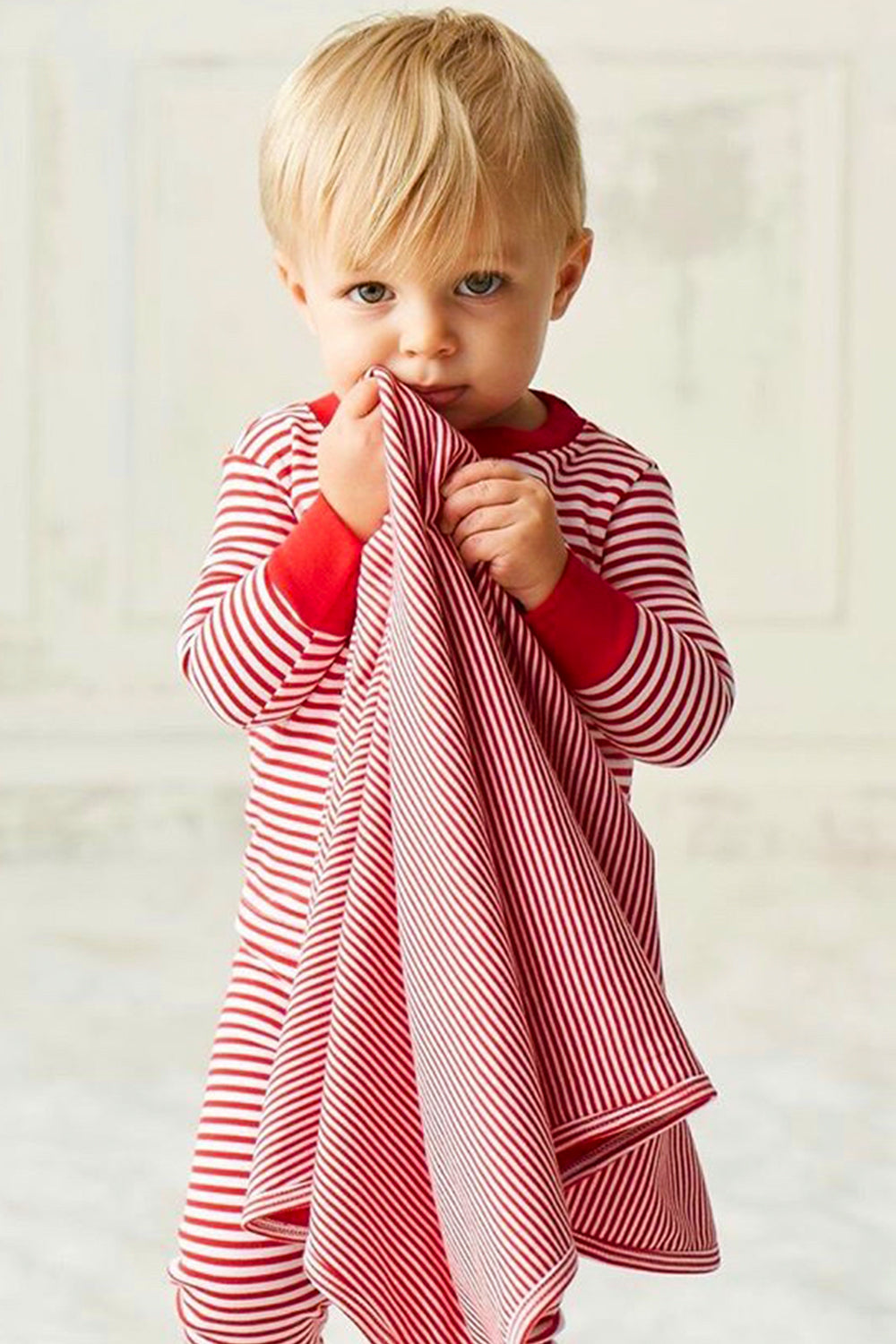 Red & White Stripe Pajama Set
