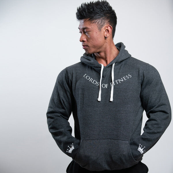 Lords Of Fitness Unisex Classic Pullover Hoodie Grey
