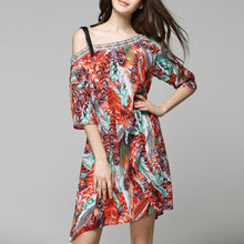 Off Shoulder Chiffon Bohemian Dress