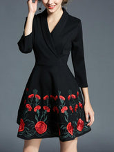 New Embroidery Flower Dress