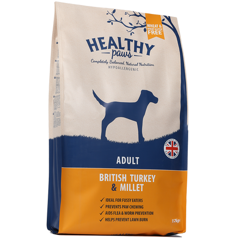 12kg British Turkey & Millet (Adult)