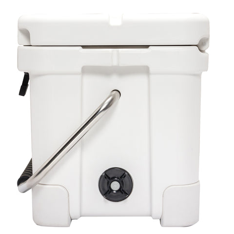 Renegade 20 Liter / 21 Quart Cooler with drain plug light -White