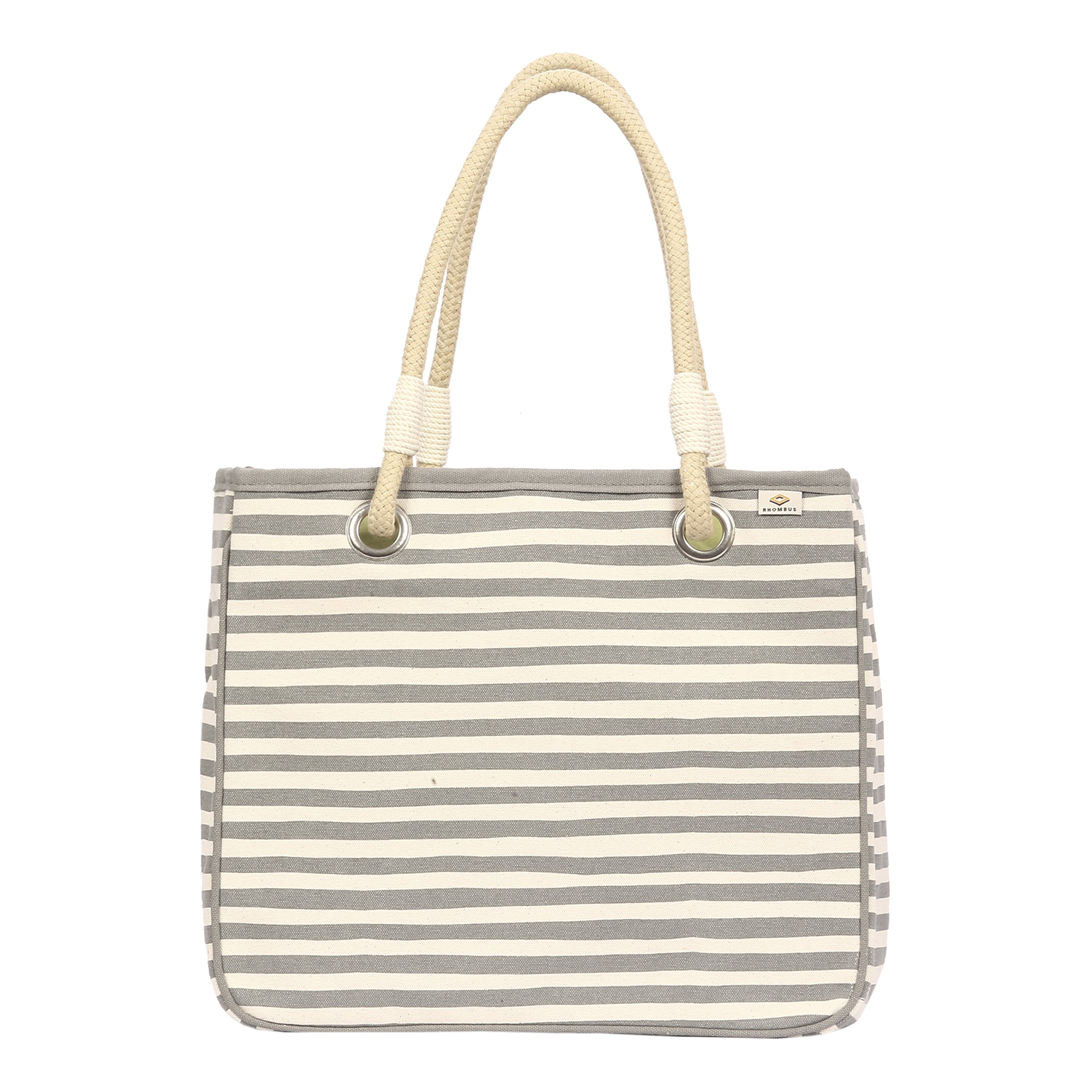 Rope Tote Karma Stripe Grey