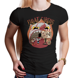 Float Circus - Retro and Pixel Video Game T-shirts - It, Pennywise, Cuphead, Circus, Xbox, Shooter, Mugman, Clown, T-Shirt, Women, Men, Game, Geek, Nerd, Movie Game Mashup, Animation, Popcorn